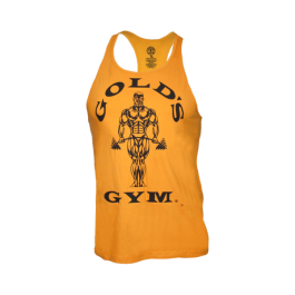 Golds Gym, Classic Stringer Tank Top, gold