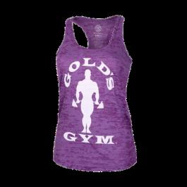 Golds Gym, Ladies Silhouette Burnout Tank, Purple