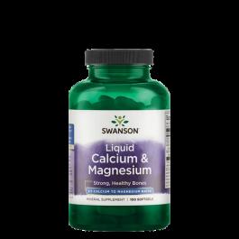 Swanson, Liquid Calcium & Magnesium, 100 Kapseln