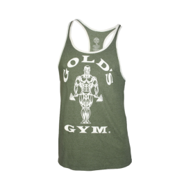 Gold´s Gym, Muscle Contrast Stringer Tank -Army