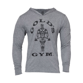 Gold´s Gym, Muscle Joe Longsleeve Hoodie, Grau