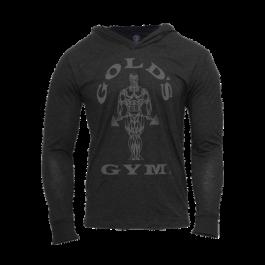 Gold´s Gym, Muscle Joe Longsleeve Hoodie, Schwarz