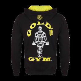 Gold´s Gym, Muscle Joe Zip Through Hoodie, Schwarz-Rücken