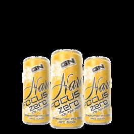 GN, Narc Focus Zero Ice Tea Peach Energy Drink, 24 x 250ml