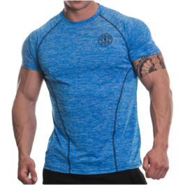 Golds Gym, Raglan T-Shirt -Blue Marlin