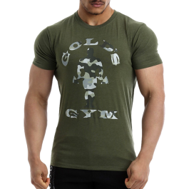 Golds Gym, Camo Joe Printed T-Shirt -Army