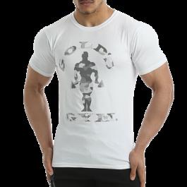Golds Gym, Camo Joe Printed T-Shirt -White