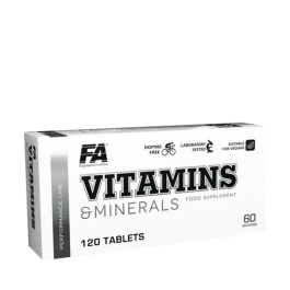 FA Nutrition, Vitamins & Minerals, 120 Tabletten