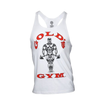 Golds Gym, Classic Stringer Tank Top, Weiss