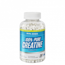 Body Attack, 100% Pure Creatine, 240 Kapseln
