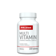 Body Attack, Multi Vitamin, 100 Tabletten