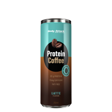 Body Attack, Protein Coffee - Cafe Latte, 250ml