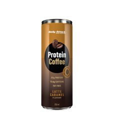 Body Attack, Protein Coffee - Latte Caramel, 250ml