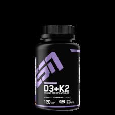 ESN, Vitamin Vitamin D3 + K2, 120 Kapseln