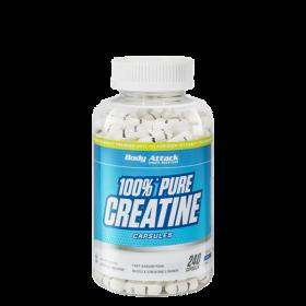 Body Attack, 100% Pure Creatine, 240 Kapseln