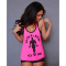 Gold´s Gym, Ladies Silhouette Stringer - Pink